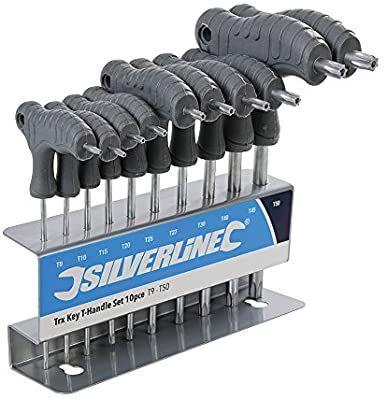 Silverline Trx-Stiftschlüssel mit Quergriffen, 10-Teilig [Prime]