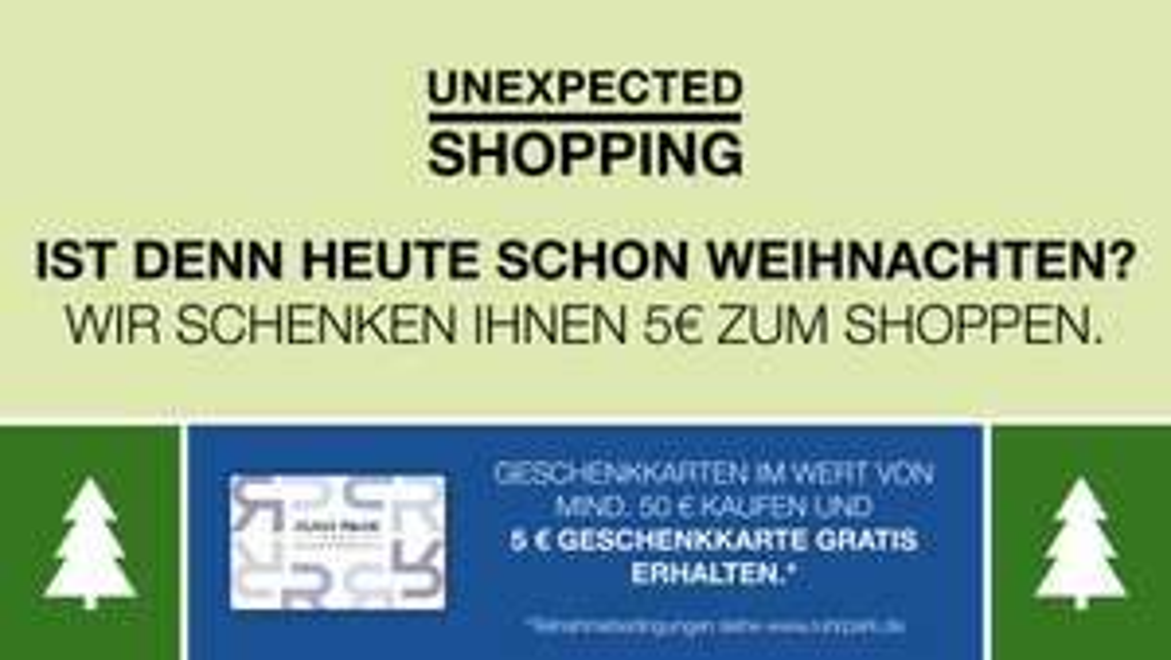 [LOKAL] Ruhrpark Bochum: 5€ Gutschein beim Kauf einer 50€ RuhrPark Geschenkkarte für z.B. Media Markt oder Kaufland erhalten