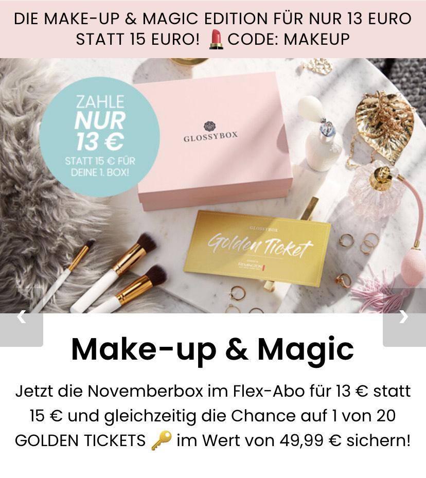 GLOSSYBOX Beauty Box November