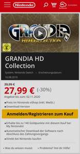 Switch GRANDIA HD Collection