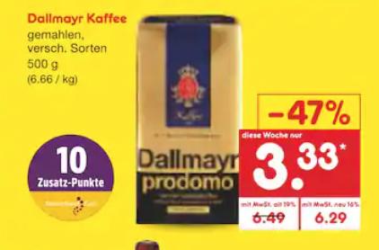 [Offline Netto Markendiscount] Dallmayr Prodomo