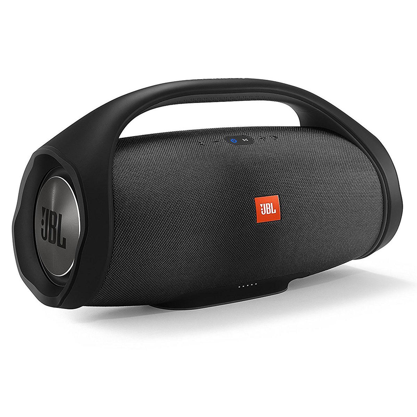 JBL Boombox - Bluetooth Lautsprecher (24h Akku, IPX7 Wasserdicht, JBL Connect, 2x USB Output)