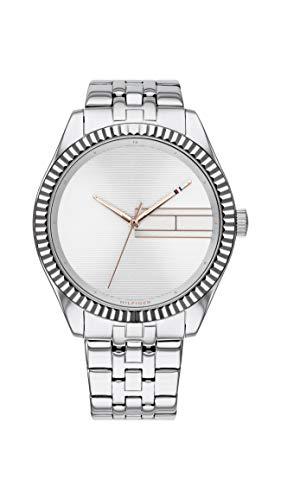 Tommy Hilfiger Damen Analog Quarz Uhr mit Edelstahl Armband