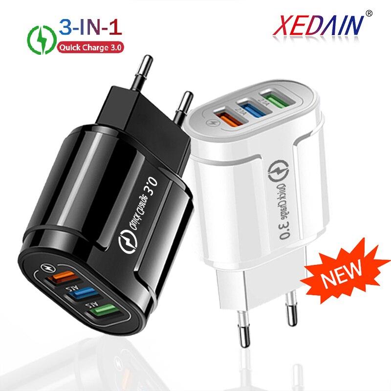USB-Ladegerät (mit Quick Charge 3.0, 3 Ports)