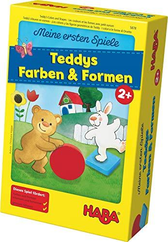 [Amazon Prime] Haba 5878 - Meine ersten Spiele Teddys Farben und Formen, Legespielsammlung für 1-4 Kinder ab 2 Jahren