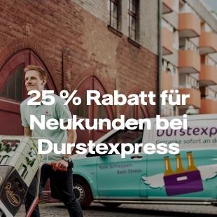 25% Rabatt bei Durstexpress für Neukunden (Vattenfall / my Highlights)