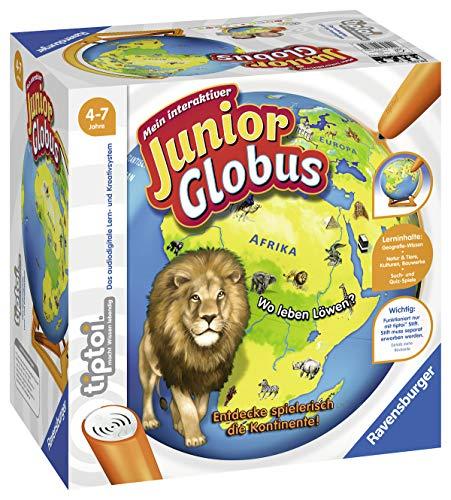 """[Amazon] Ravensburger tiptoi 00785 - """"Mein interaktiver Junior Globus"""" / Spiel von Ravensburger ab 4 Jahren / Entdecke die Kontinente!"""
