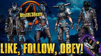 """Borderlands 3 *Free* """"Like Follow Obey Skins"""" + Echo"""