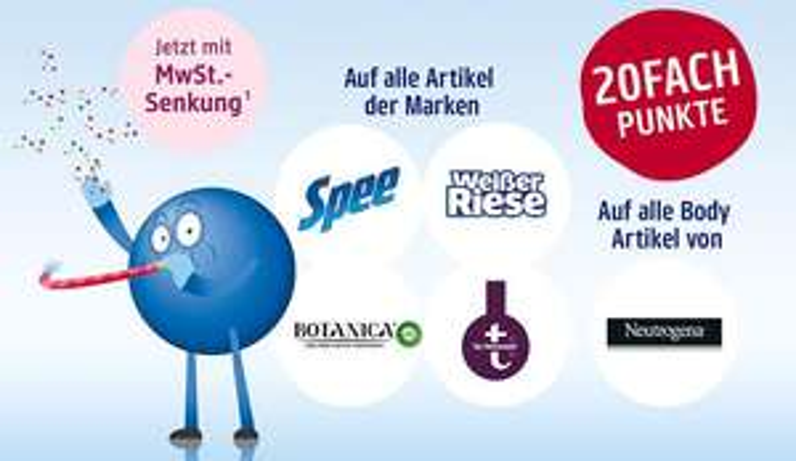 [dm] Payback punktehits im November - Auf alle Artikel der Marken Spee/Weißer Riese/Botanica/ t by tetesept/Neutrogena