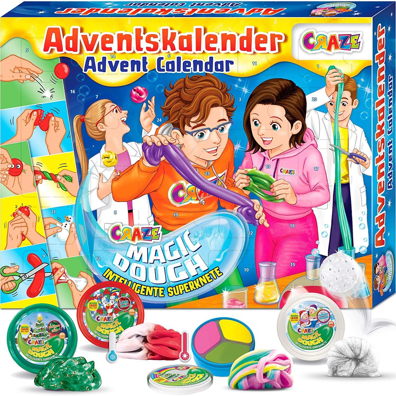 CRAZE Adventskalender 2020 MAGIC DOUGH magische Knete + Zubehör kreativer Knetspaß für Kinder und Jugendliche [Amazon Prime]