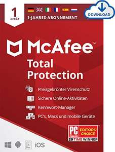 McAfee Total Protection 2020   1 Geräte   1 Jahr  