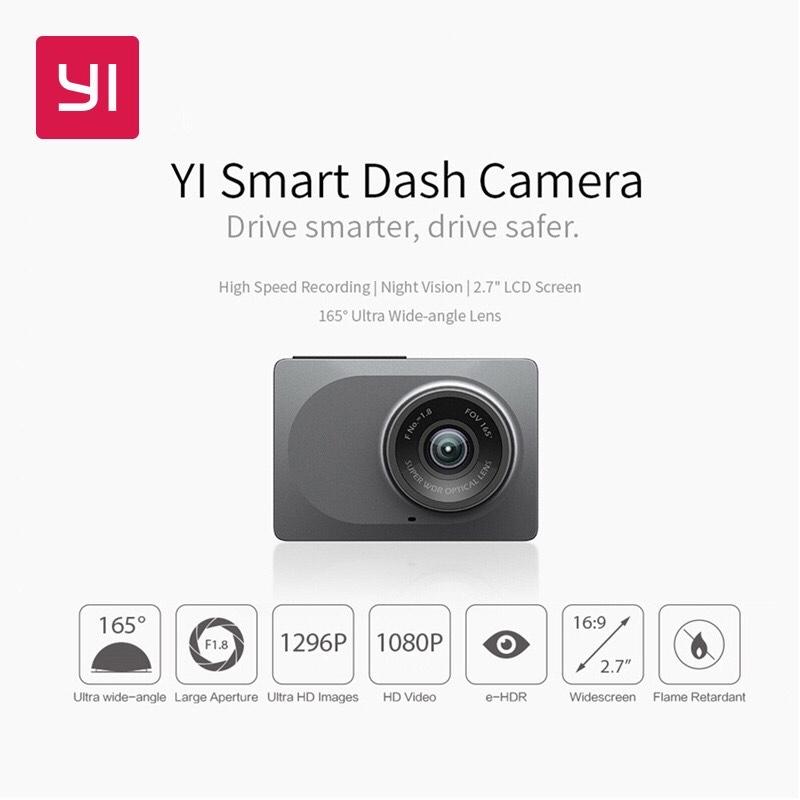"(11.11.)YI Smart Dash Kamera 2.7 ""Screen 165 grad Weitwinkel Internationalen"