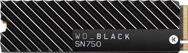 Western Digital WD_BLACK SN750 500GB High-Performance NVMe Internal Gaming SSD mit Heatsink (3470MB/s, 3D-NAND TLC, M.2 PCIe 3.0 x4)