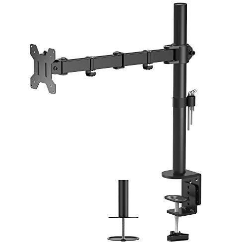 """[Amazon.de Prime ohne VSK] Bontec Monitor-Halterung (1x max. 32""""), höhenverstellbar, neigbar, schwenkbar 360° [Bestpreis]"""