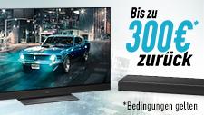Panasonic Heimkino Cashback-Aktion für Tvs und Soundbars - bis zu 300€ zurück