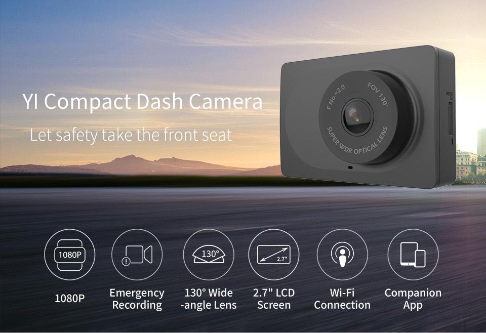 (11.11) YI Dash Kamera 1080p Kamera mit 2,7 inch LCD Screen 130 WDR
