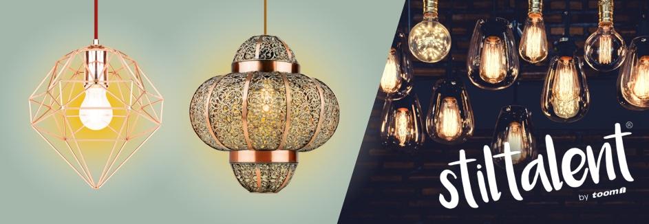 Toom // 10% auf Stiltalent Beleuchtung z.B. Stiltalent by toom® Pendelleuchte 'Bedouin' schwarz Ø 30 x 121