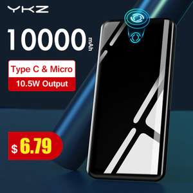 Zwei 10.000mAh YKZ Powerbanks (6.04€/Stück)