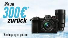 Panasonic LUMIX Cashback-Aktion auf Kameras & Objektive (bis zu 300€)