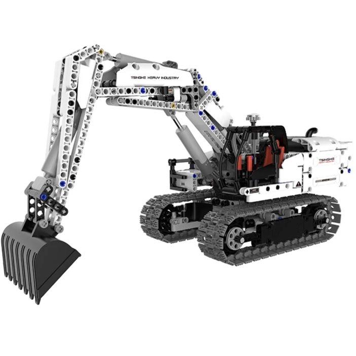 Xiaomi Mitu Engineering Excavator: Modellbau Bagger (918 Teile, Bewegbare Schaufel, Hydraulische Elemente, 890 Gramm, 0.03€/Teil)