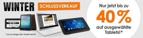 Tablets Winterschlussverkauf bis zu 40%@notebooksbilliger.de