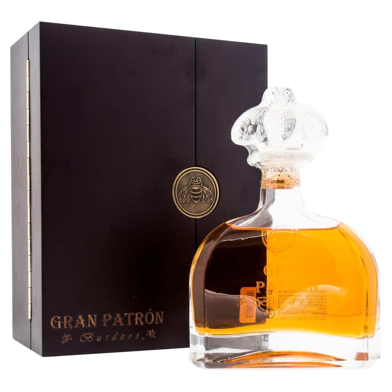 Gran Patron Tequila Burdeos Anejo + GB 700ml 40% Vol.