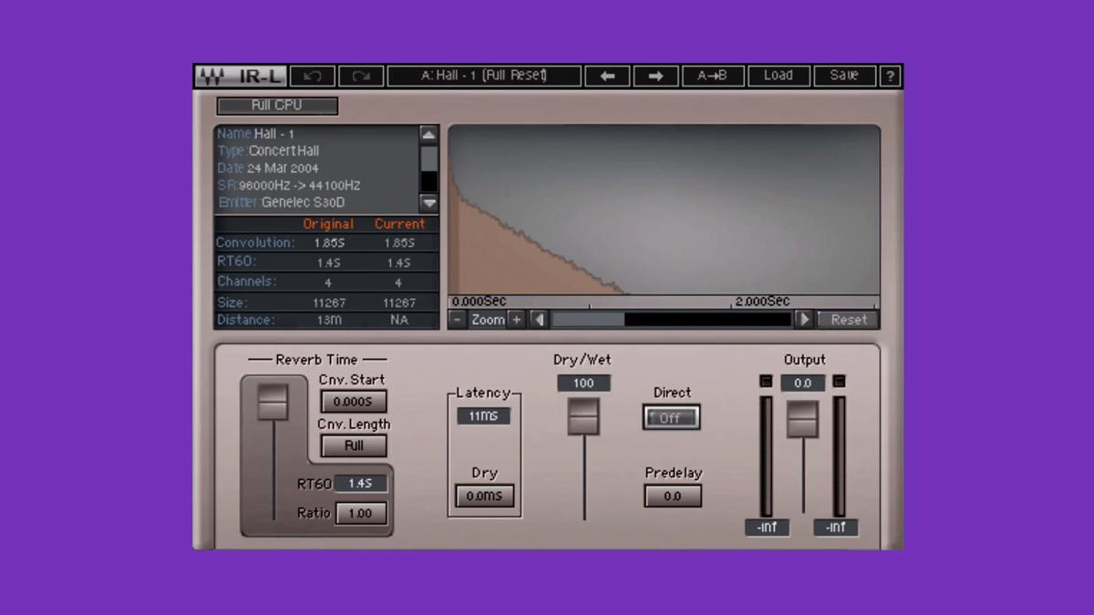 [ VST / Musikinstrumente / DAW ] Waves Audio IR-L Convolution Reverb Plugin