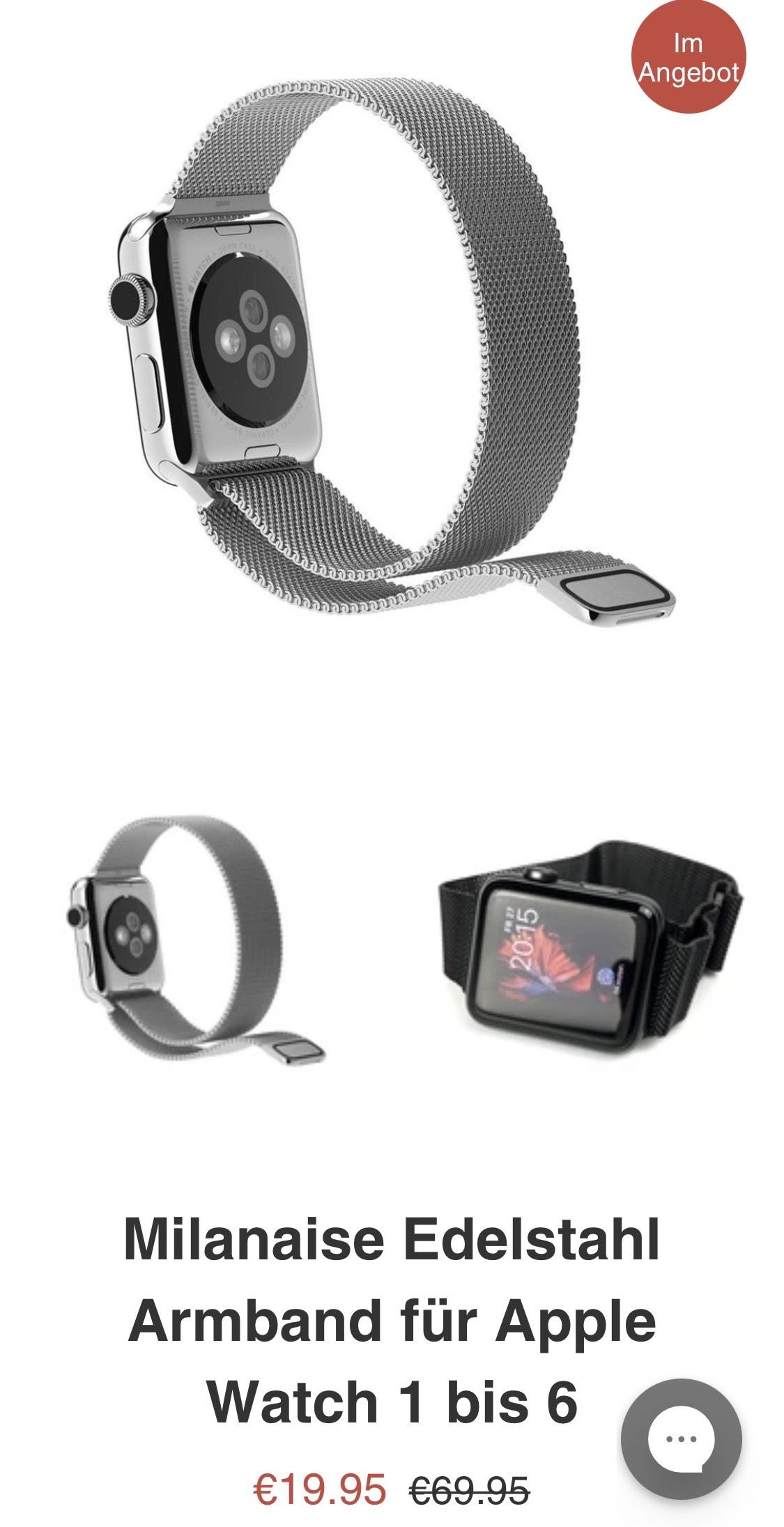 Bluestein Milanaise Armband für Apple Watch