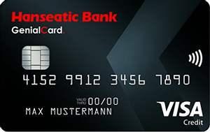 [Shoop] 50€ Cashback beim Abschluss der Hanseatic Bank GenialCard Visa | dauerhaft ohne Jahresgebühr!