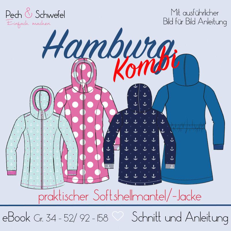 """Schnittmuster Softshellmantel """"Hamburg"""" Damen/Kinder (Einzelgrößenschnitt) (Pech&Schwefel)"""