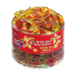 Red Band Willy das Würmchen 1,1 kg Dose – 6er Pack | Fruchtgummi