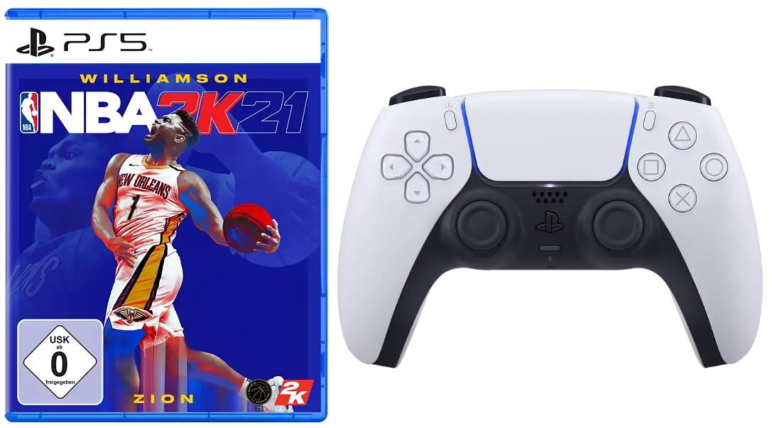 [Vorbestellung] NBA 2K21 (PS5) + Sony DualSense Wireless-Controller für 99,99€