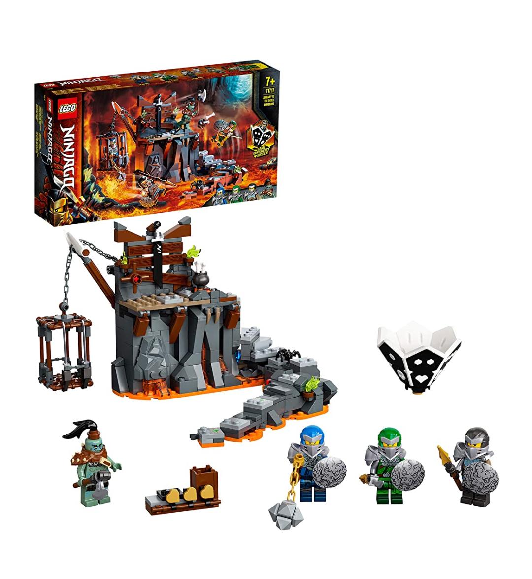 LEGO 71717 NINJAGO - Reise zu den Totenkopfverliesen, 2 in 1 Set Prime