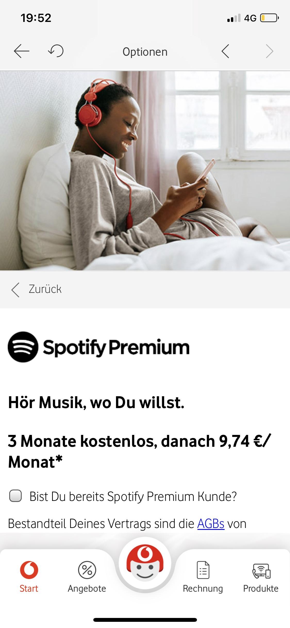 Spotify Premium 3 Monate gratis für Vodafone Kunden Mobilfunk Musik Streaming