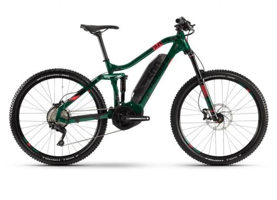 "(Fahrrad24) Haibike SDURO FullSeven Life LT 2.0 YSTS (i500Wh) 27,5"" Fullsuspension MTB E-Bike (grün / grau)"