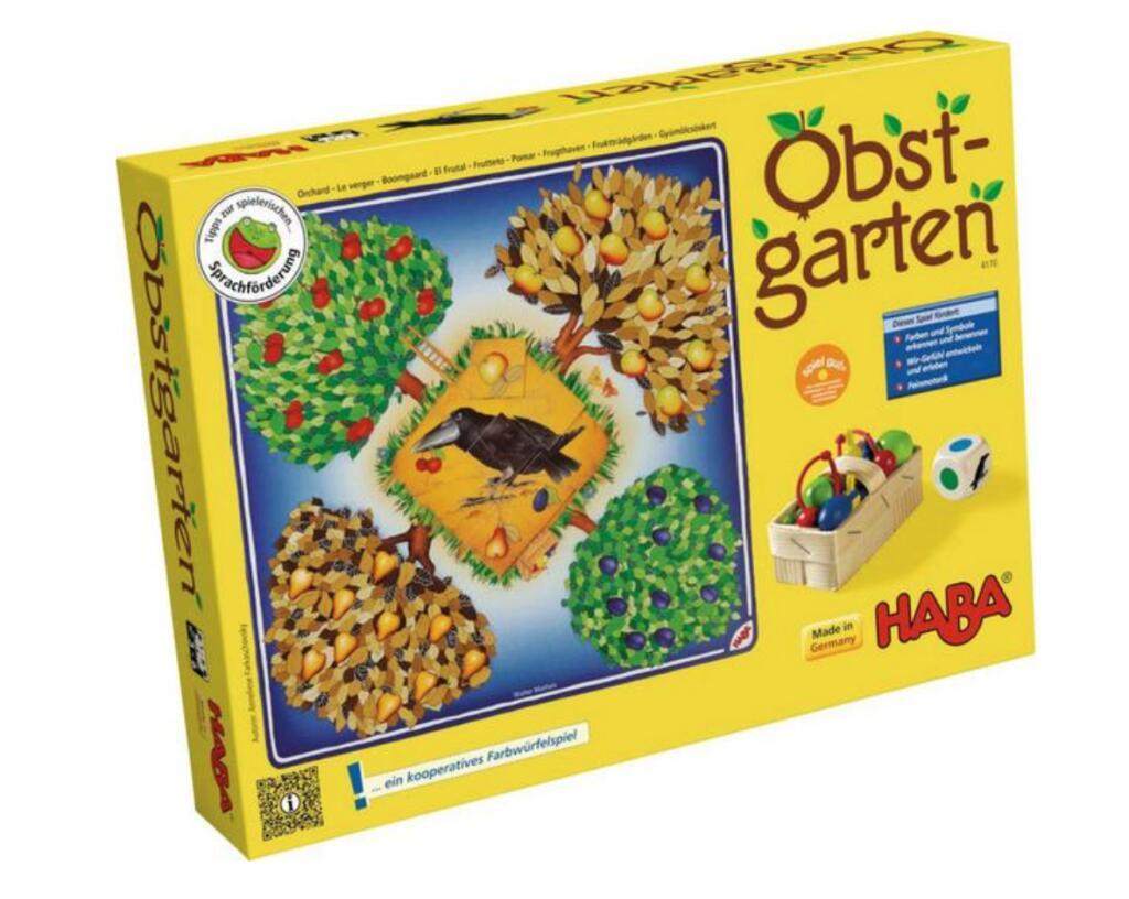 Haba Obstgarten Gesellschaftsspiel für Kinder ab 3 Jahren