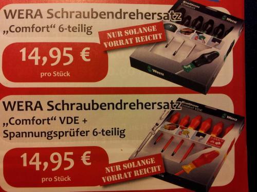 """[LOKAL Mittelhessen] WERA Schraubendrehersatz """"Comfort"""" und VDE"""