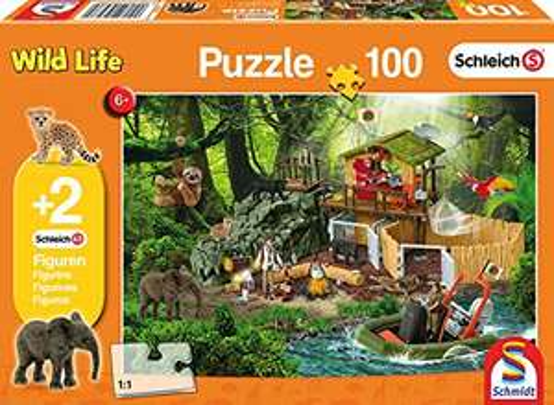 [Amazon Prime] Schmidt Spiele 56238 Kinderpuzzle Forschungsstation Croco +2 Schleich Figuren, 100 Teile