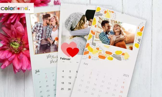 Personalisierter Foto-Kalender XL, A4 oder A3 ab 13,90 Euro für 5 Stück!