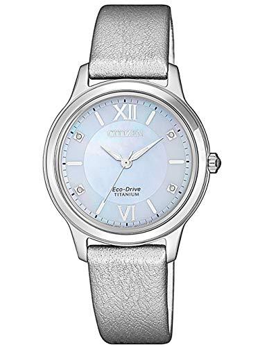 [Amazon] Citizen Damen Armbanduhr EM0720-18D Eco-Drive, Super Titanium & Saphirglas