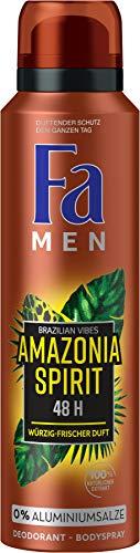 FA Deospray Men Brazilian Vibes Amazonia Spirit Würzig-frischer Duft, 1er Pack (1 x 150 ml) SparAbo