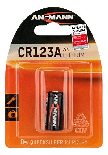 ANSMANN CR123A (3V) Lithium Batterie für Garagentoröffner, Alarmanlage ..(Prime)