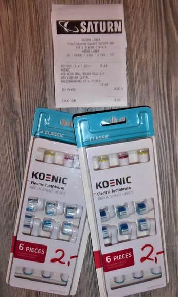 KOENIC KOB-6000 Aufsteckbürsten für elektrische Zahnbürste (6er Pack) 2€ @ Saturn Lünen (lokal)