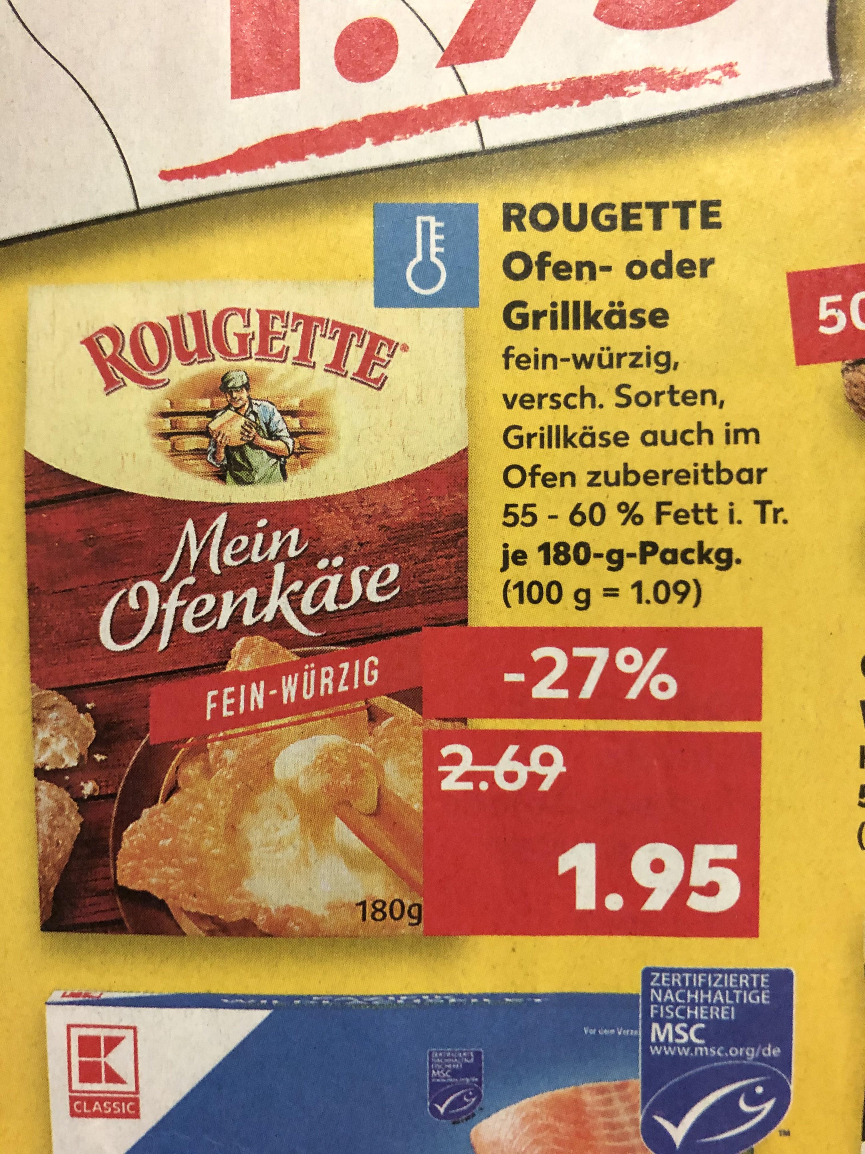 Rougette Ofenkäse verschiedene Sorten