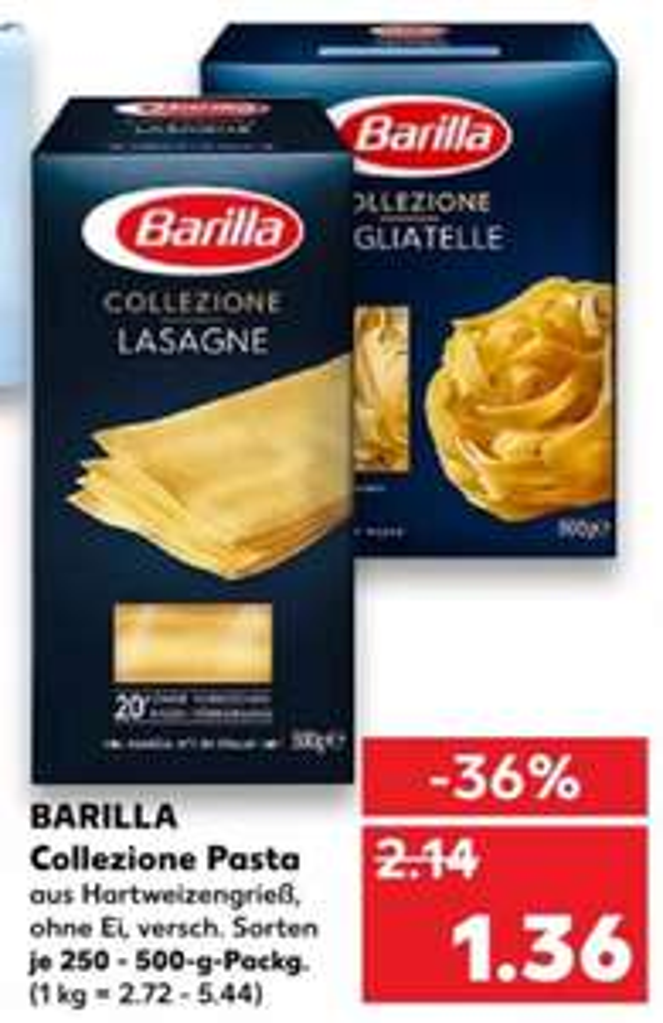 [Kaufland Do-Mi] Barilla Collezione Pasta mit Scoondo Cashback für effektiv 0,66€