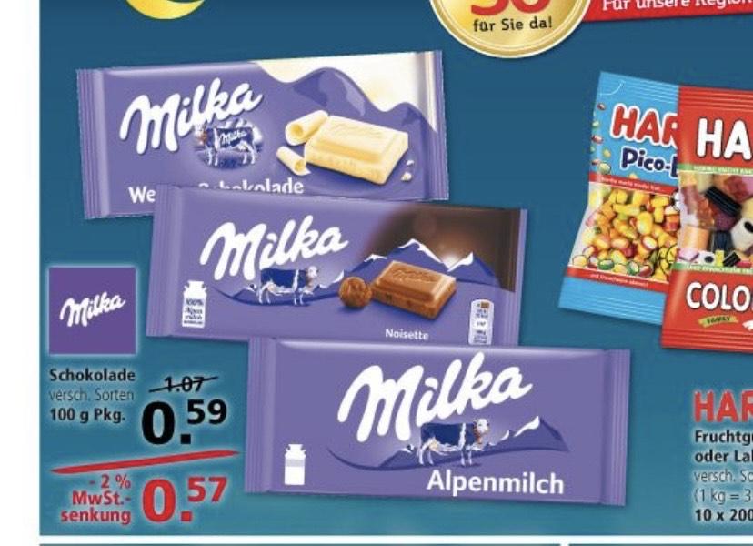 [Lokal Leer/Emden] 9x Tafeln Milka für 1,13€; Preis je Tafel 12,5 Cent