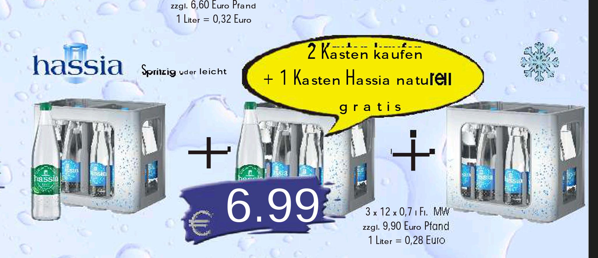 3 Kästen Hassia Mineralwasser [Lokal Alzenau]
