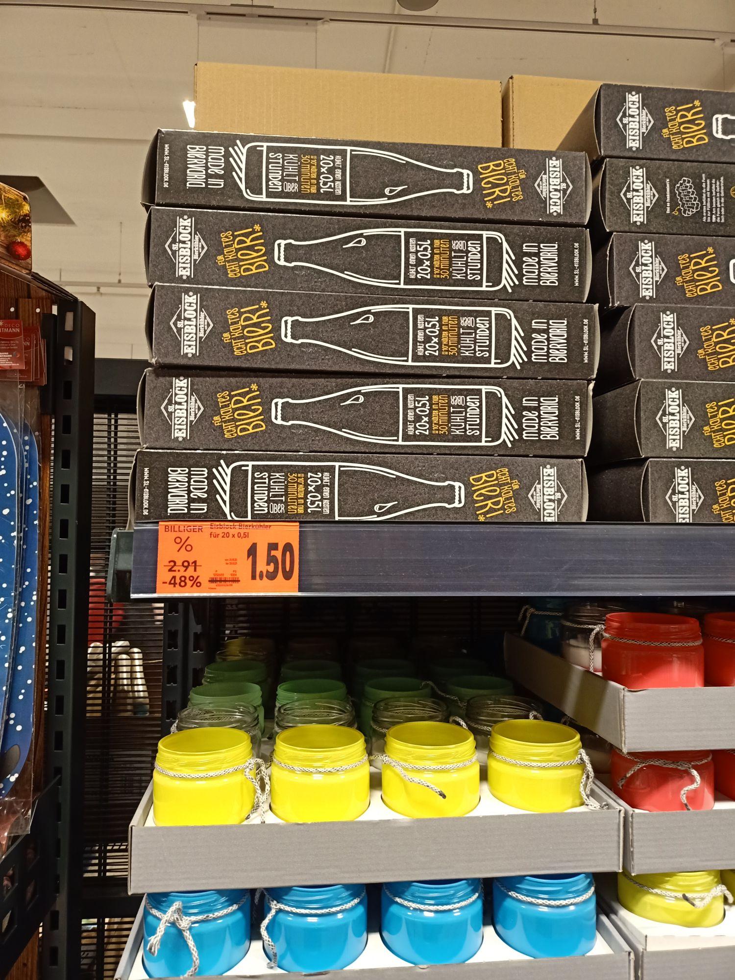 [Lokal Potsdam Kaufland] Bierkühler Eisblock für 0,5l oder 0,33l Flaschen