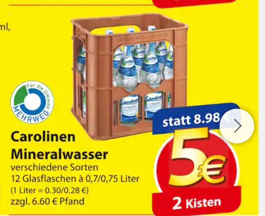 Carolinen Mineralwasser 2 Kisten 5€ (Famila)