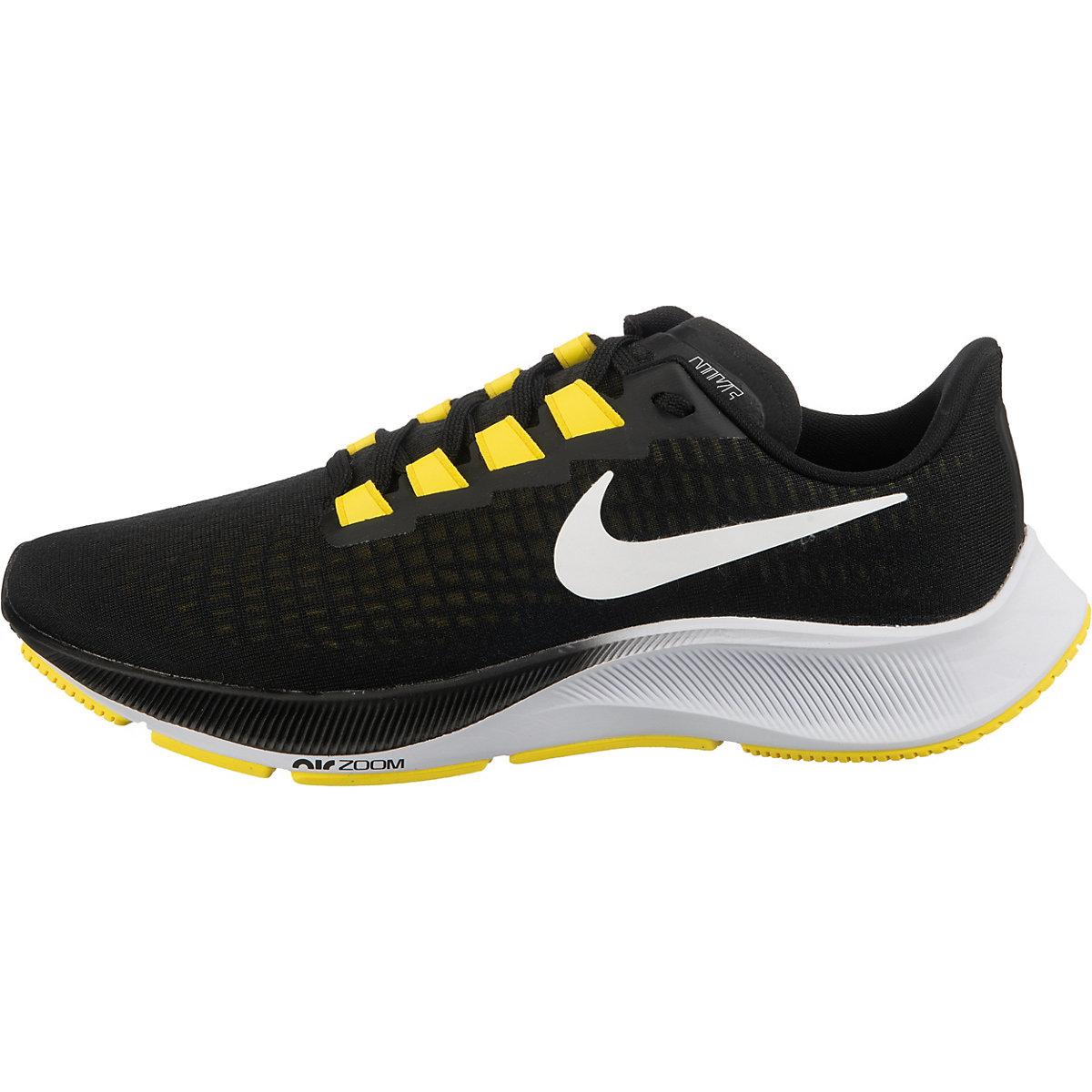 [Herren Laufschuhe] Nike Pegasus 37 Schwarz/Gelb Gr. 40-46 (Neutral, Daily Trainer, 285g, 10mm Sprengung)